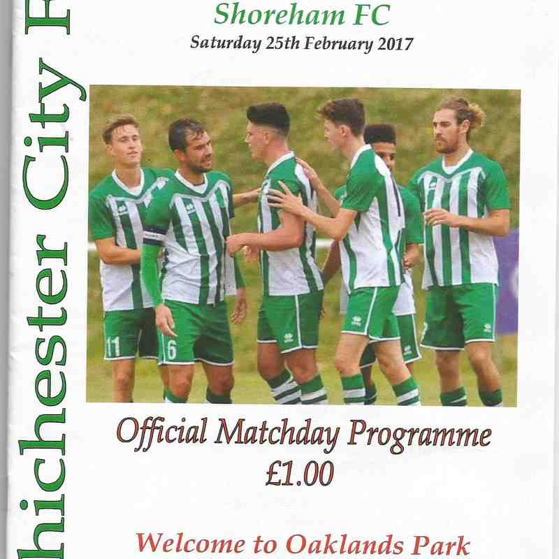 Chichester City Vs Shoreham.18/02/2017