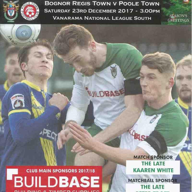 Bognor Regis Town Vs Poole Town.23/12/2017