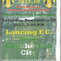 Lancing Vs Chichester City 30/12/2017
