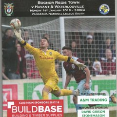 Bognor Regis Town Vs Havant & Waterlooville 01/01/2018