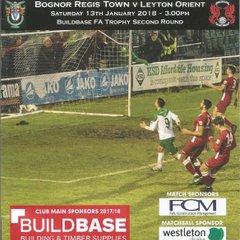 Bognor Regis Town Vs Leyton Orient 13/01/2018