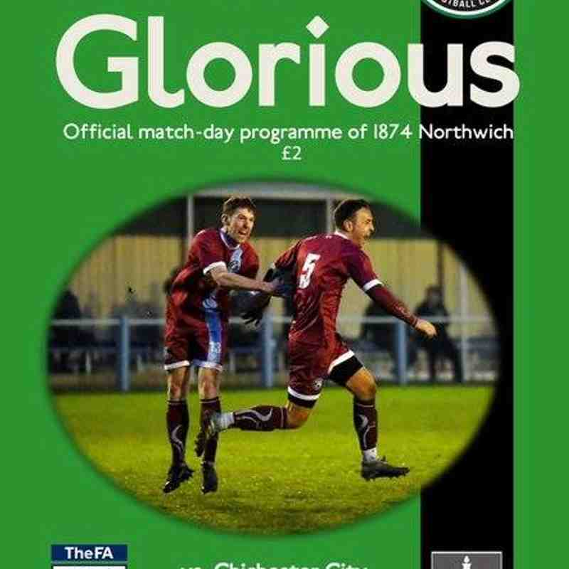 1874 Northwich Vs Chichester City FA Vase Fifth Round