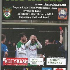 Bognor Regis Town Vs Braintree Town.17/02/2018