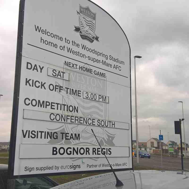 Weston Super Mare Vs Bognor Regis Town 24/03/2018