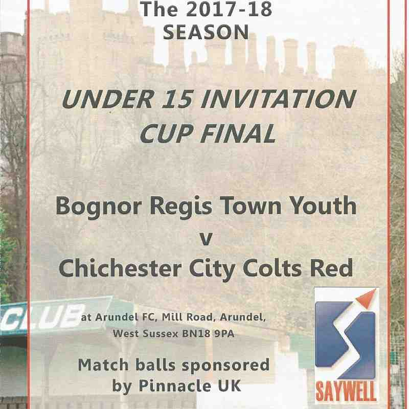 Bognor Regis Town Youth Vs Chichester City Colts Red.19/04/2018 Part Two