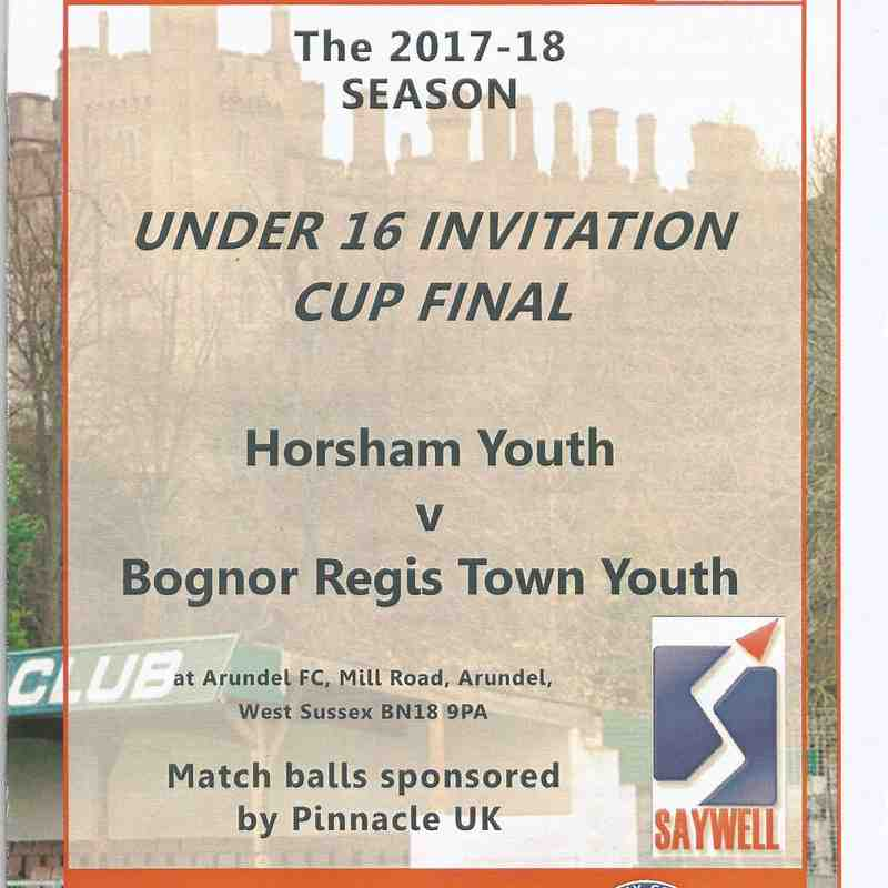 Bognor Regis Town Youth Vs Horsham Youth 20/04/2018 Part Two