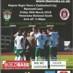 Bognor Regis Town Vs Chelmsford City 24/04/2018