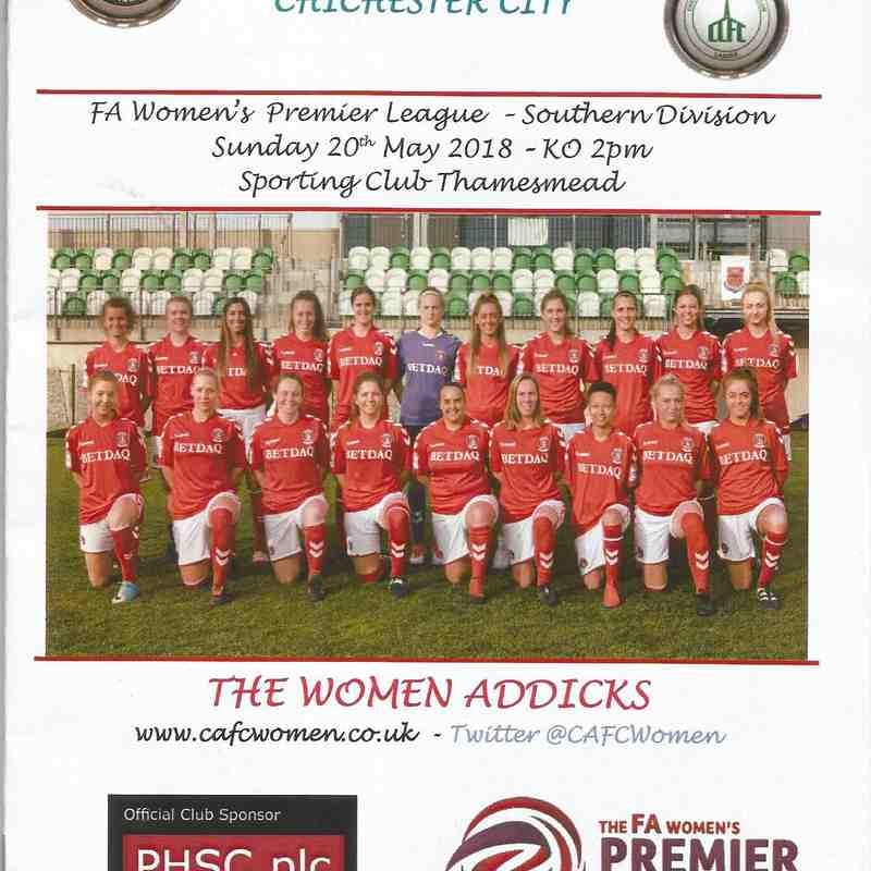 Charlton Athletic Vs Chichester City 20/05/2018