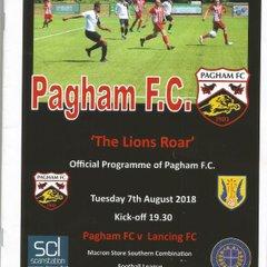 vs pagham 07/08/2018