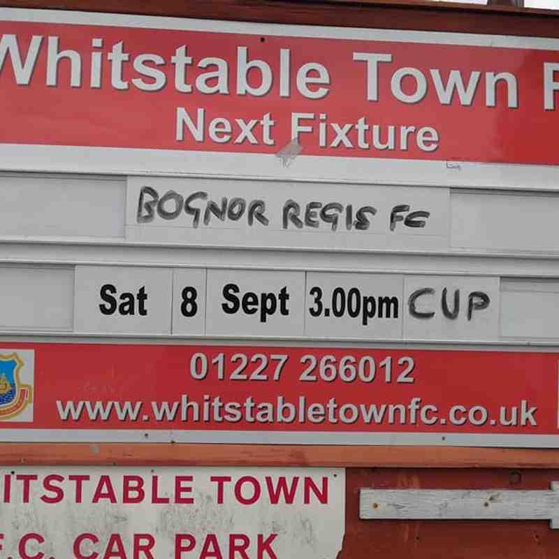 Whitstable Town Vs Bognor Regis Town FA Cup 1st Half
