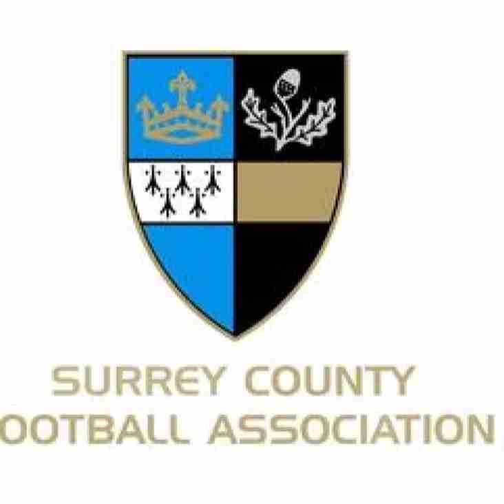 Surrey Intermediate County Cup Semi-Final Draw!