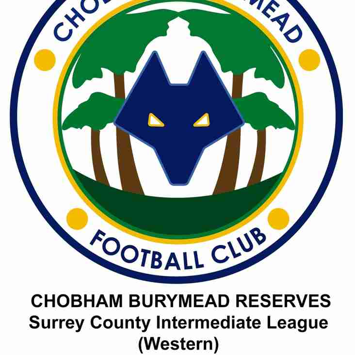 Chobham Burymead Reserves Champions!