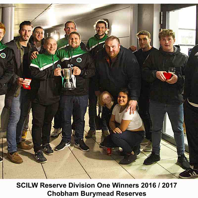 Chobham Burymead Reserves 2016 /2017 Res Div 1 Winners