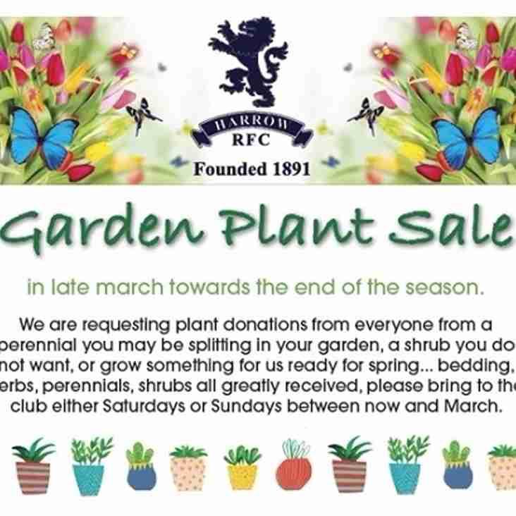 Harrow RFC Garden Plant Sale