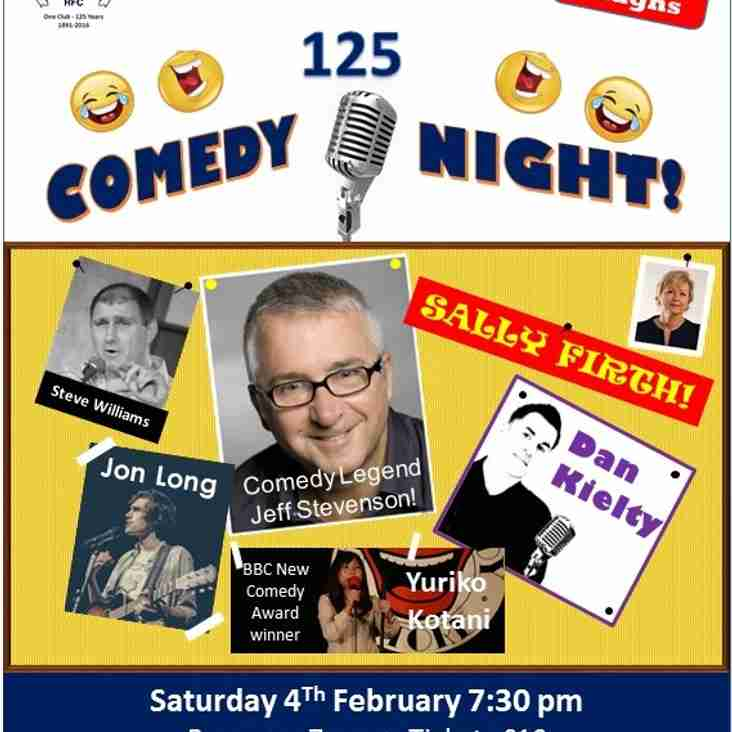 Comedy Night with a  fantastic line up - Saturday 4th February