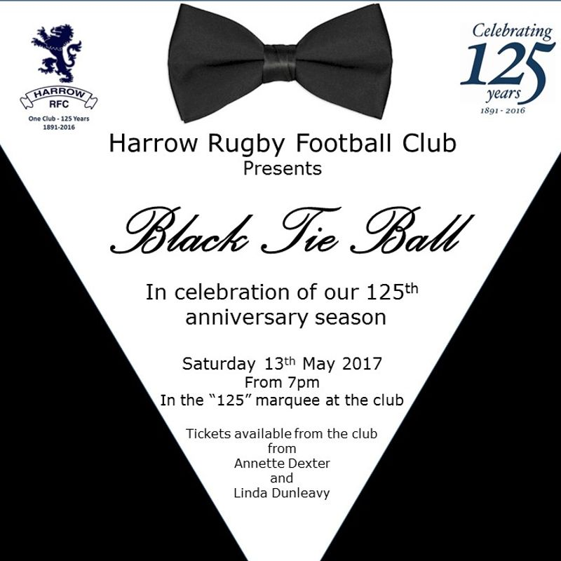 Ladies and Gentlemen - get your tickets for the 125 Black Tie Ball!