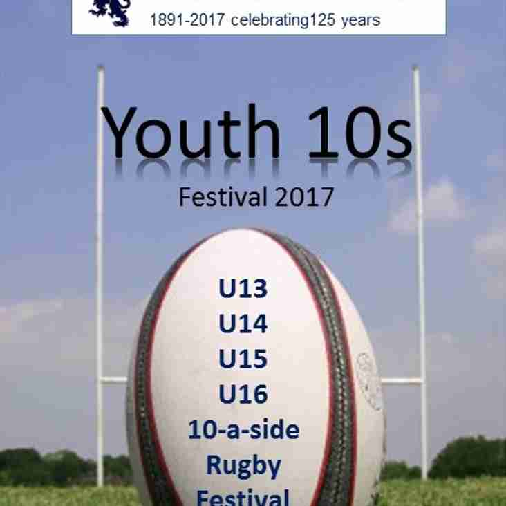 Harrow Youth 10s back on Sunday 2nd April