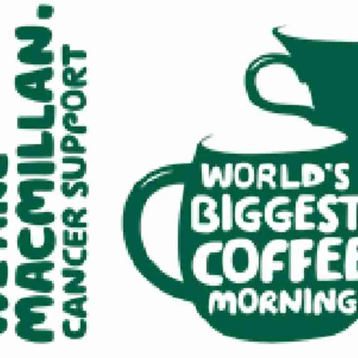 Club hosting Macmillan Coffee Morning on Sunday 24th September
