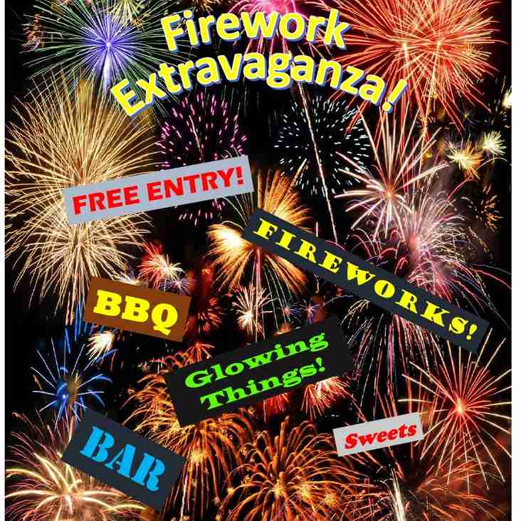 Harrow RFC Fireworks Extravaganza - Friday 3rd November