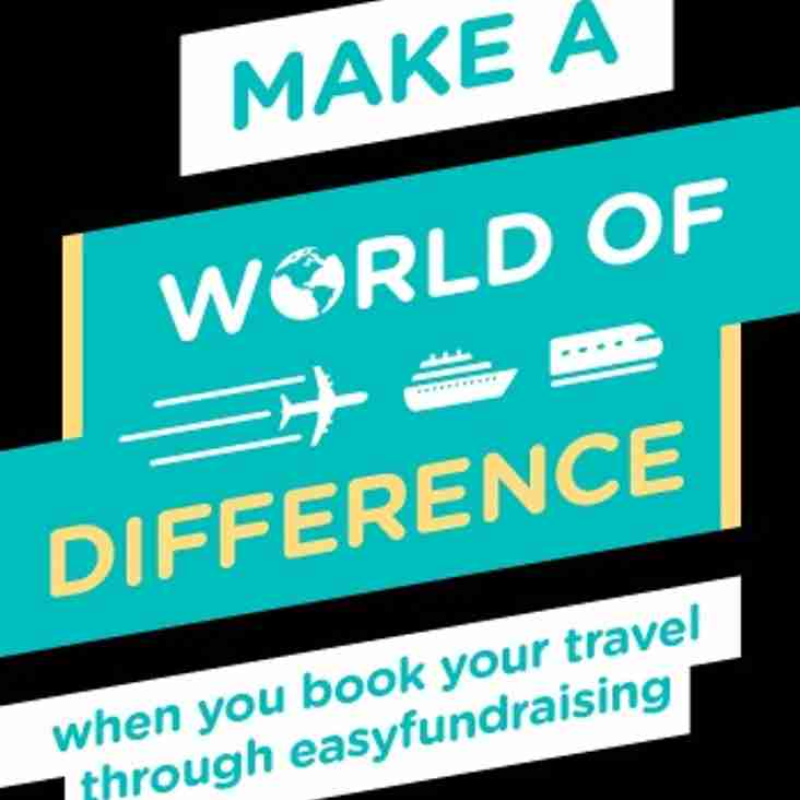 Travel deals on Easyfundraising that create donations for the club!