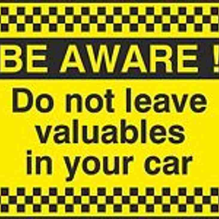 Club car park targeted by thieves - make sure yours is safe!