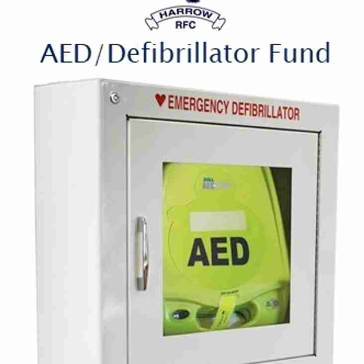 Harrow RFC AED/defibrillator fund raising going well but we need more!