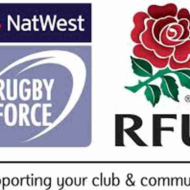 Hold the date! Our NatWest RugbyForce day - Saturday 23rd June