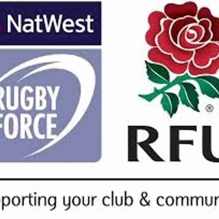 Club chosen for NatWest Rugby Force award
