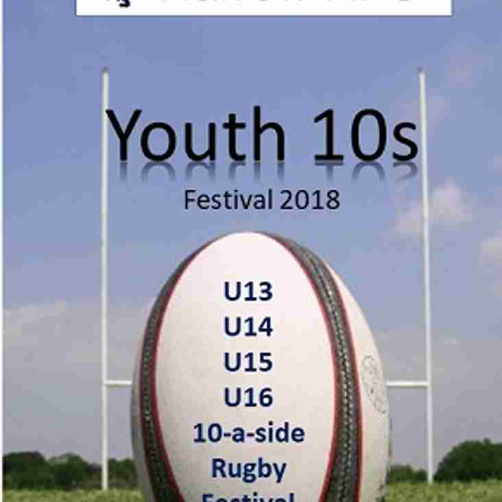 Harrow Youth 10s Festival fully booked for Sunday 22nd!