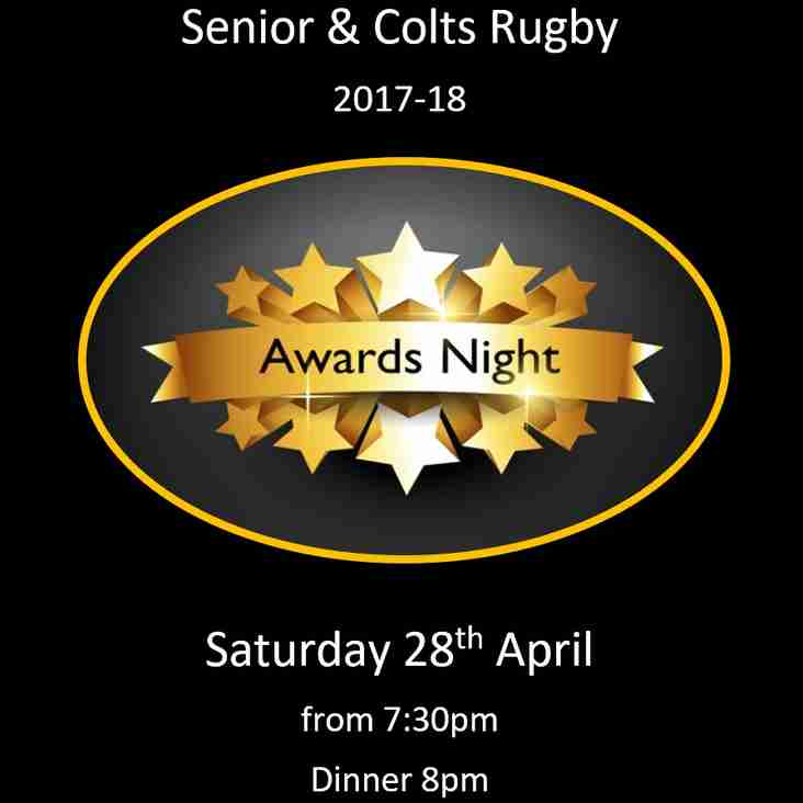 Senior & Colts Awards Night this Saturday