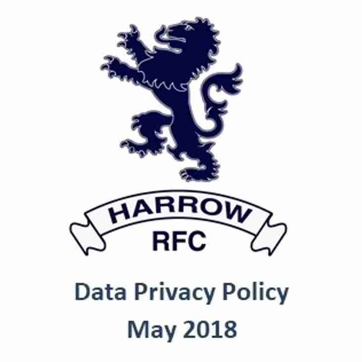 Harrow RFC and your data