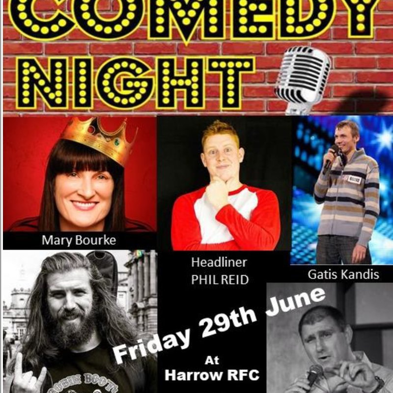 Fantastic Comedy Night line up for Friday 29th June