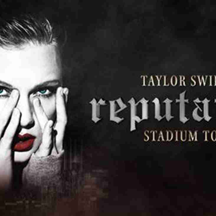 Taylor Swift tickets for Saturday! Get your bid in now! Proceeds to the club.