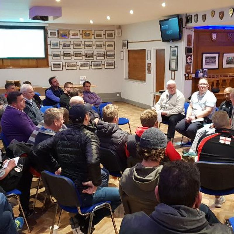Club hosts coaches evening with top UK coaches