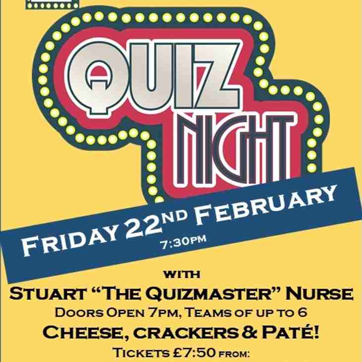 Quiz Night This Friday 22nd February 2019
