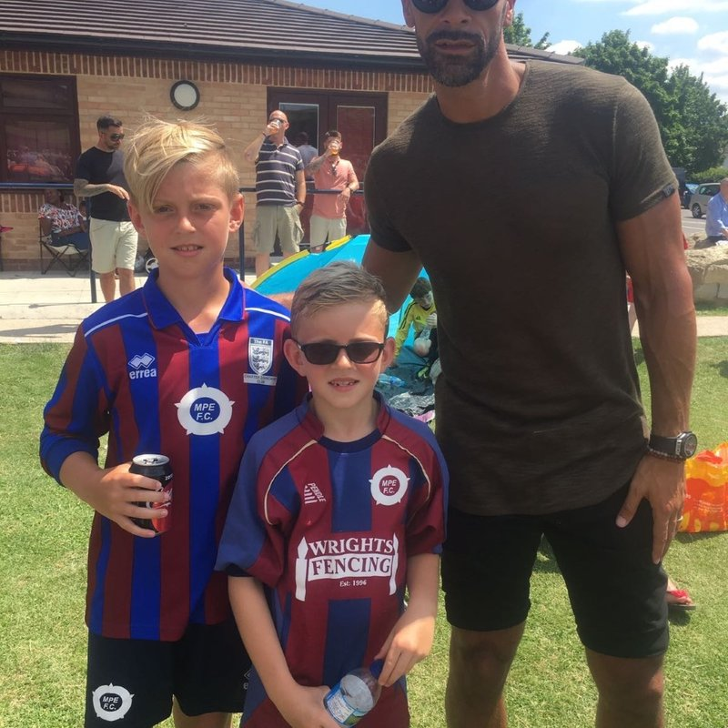 MPE Players Meet Rio Ferdinand