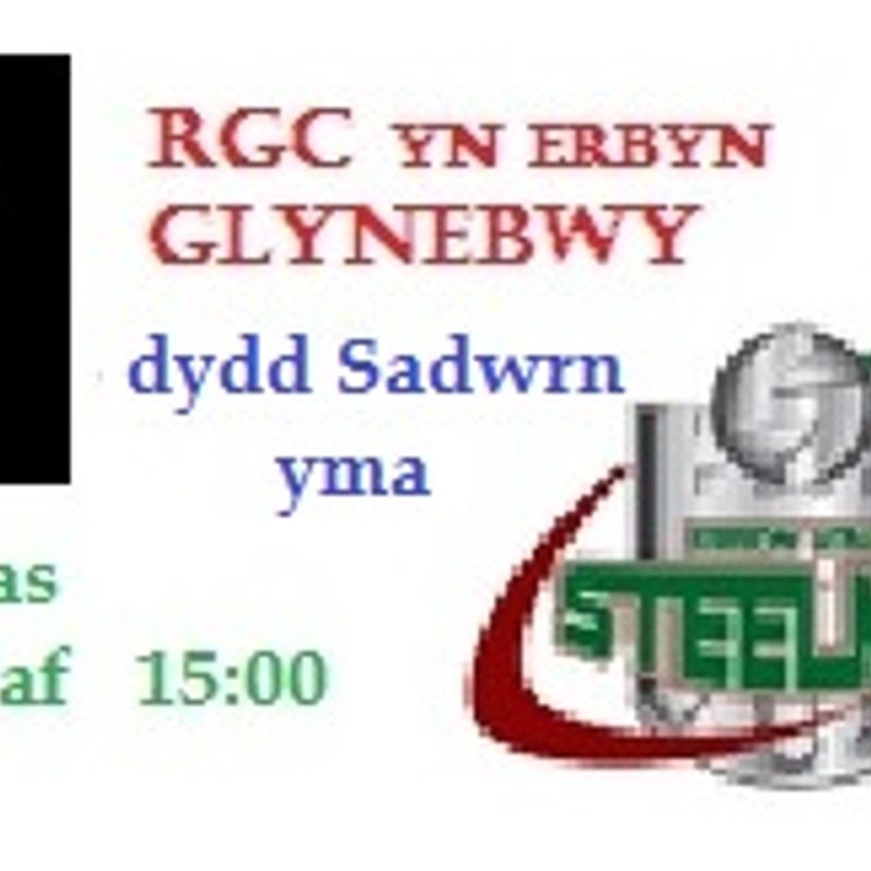 RGC v Ebbw Vale This Saturday 8th April. K.O. 15:00