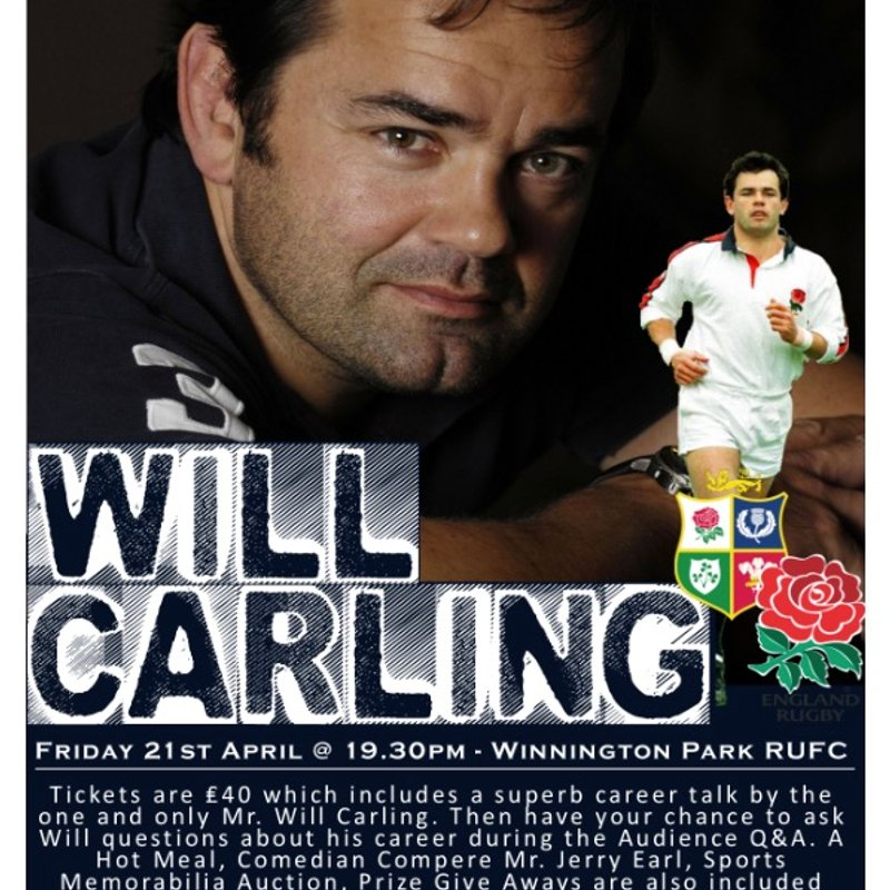 An Evening with WILL CARLING OBE