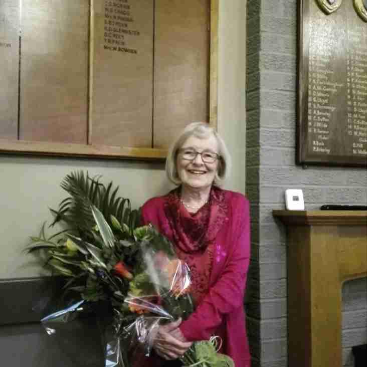 New honorary life vice-president - Win Bowden