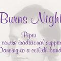 Burns Night - Friday 27th January