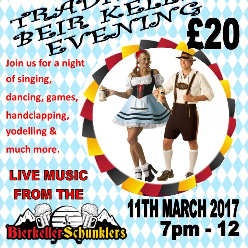 Bier Keller Evening - March 11th 2017 KO 7pm