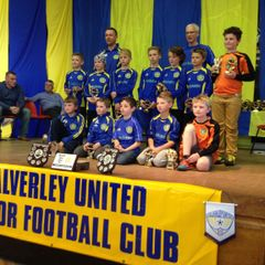Calverley Utd U10s lads v dads 2014/15