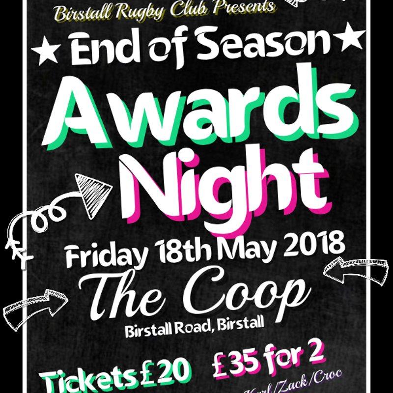 End of Season Awards Evening