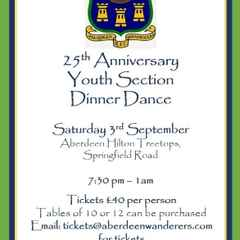 Aberdeen Wanderers Youth Section 25th Anniversary Dinner and Dance
