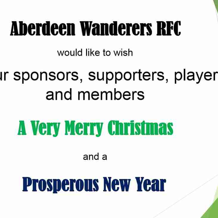 Merry Christmas from Aberdeen Wanderers RFC