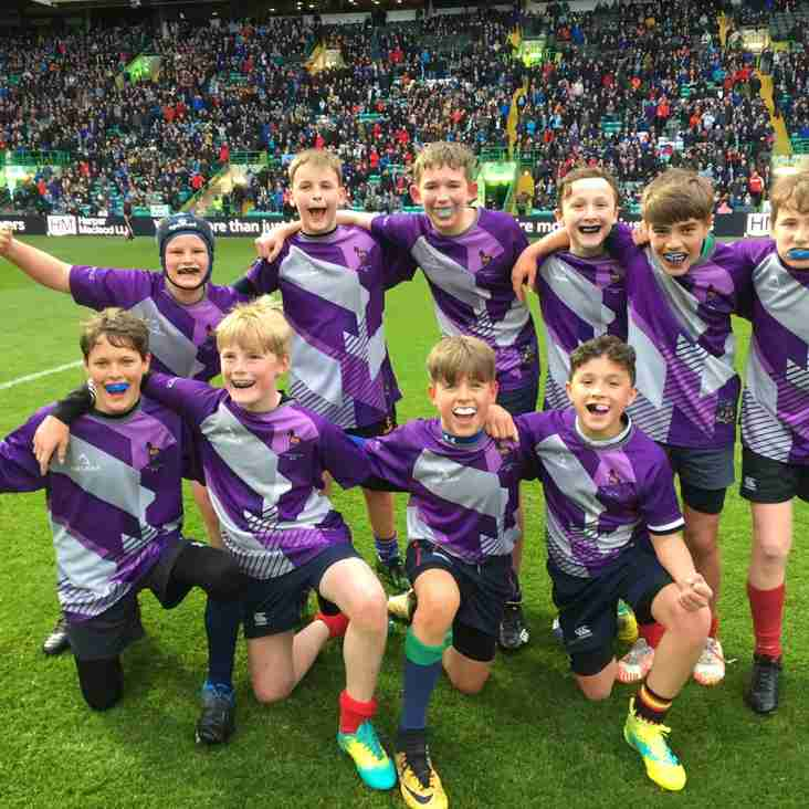 Under 13s Play at Half Time in the Pro14 Final