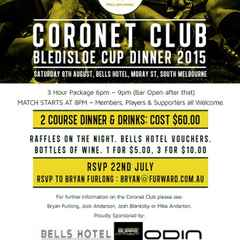 Coronet Club Bledisloe Dinner