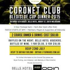 Coronet Club Bledisloe Dinner