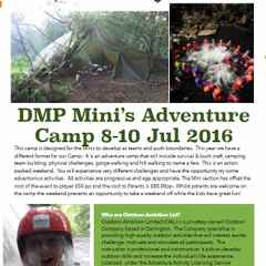 Minis Camp with Outdoor ambition