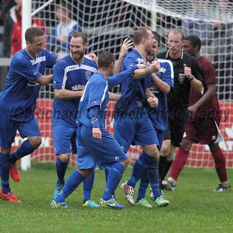 Chippenham Town V Paulton Rovers Match Pictures Monday 25th August 2014
